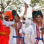 Maharashtrain Vasudev leading the welcome procession