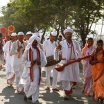 Guests were welcomed by traditional Maharashtrain provcession